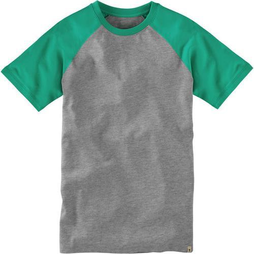 T-Shirt Raglan, grün, Gr. 176/182