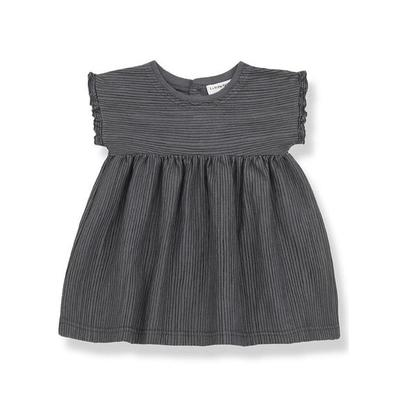 One More in the Family - Anthracite Arlet Striped Dress - 9 Months