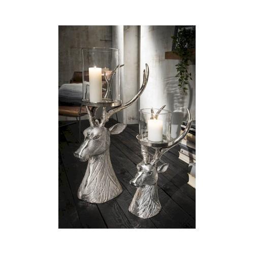 die Faktorei »Hirsch« Deko-Kerzenständer klein