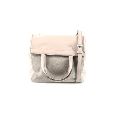 Alexander Wang Leather Satchel: Gray Solid Bags
