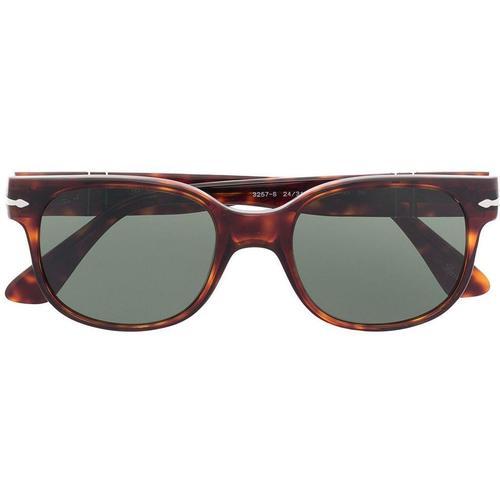 Persol Breite Sonnenbrille in Schildpattoptik