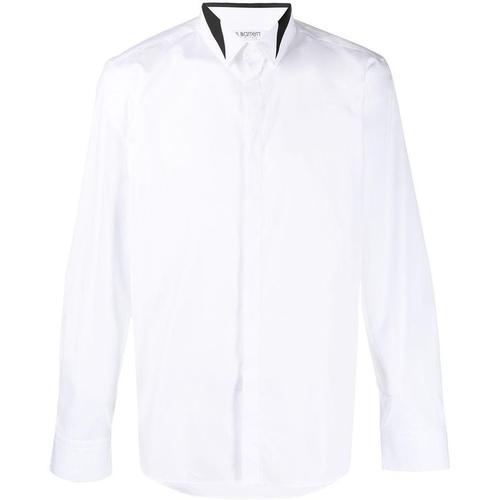 Neil Barrett Hemd mit Kontrastkragen