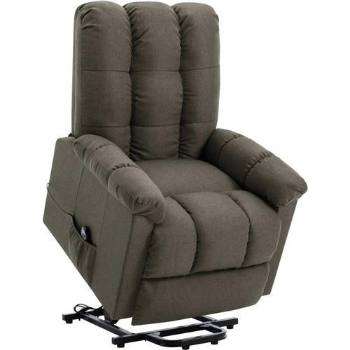 Vidaxl - Sessel mit Aufstehhilfe Taupe Stoff