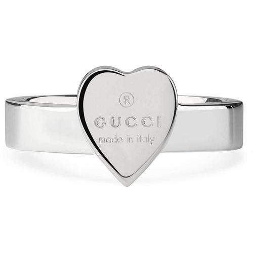 Gucci Ring mit Herz und Logo