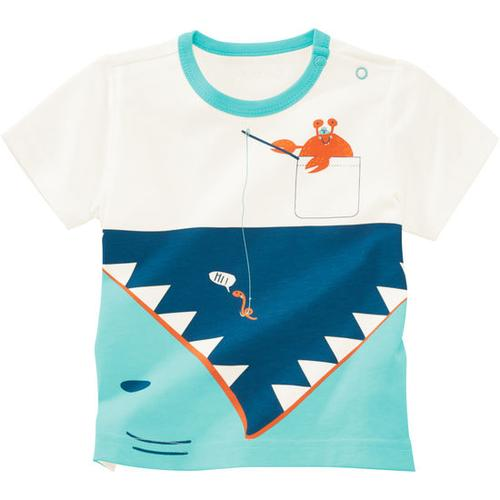 T-Shirt Unterwasserwelt, weiß, Gr. 80/86