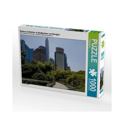 Moderne Architektur im Stadtzentrum von Shanghai Foto-Puzzle Bild von Renate Bleicher Puzzle
