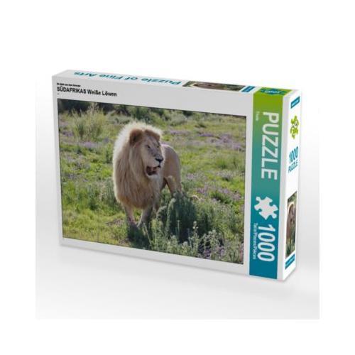 SÜDAFRIKAS Weiße Löwen Foto-Puzzle Bild von Thula Puzzle