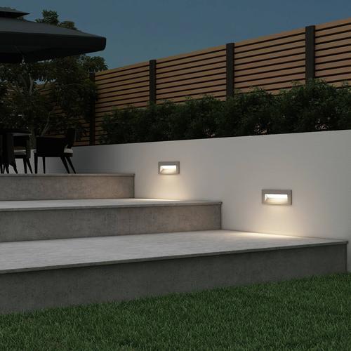 Arcchio Javis LED-Einbaulampe, geriffelt, silber