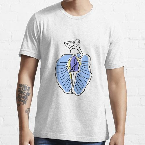 Blauer Clitoria-Tänzer Essential T-Shirt