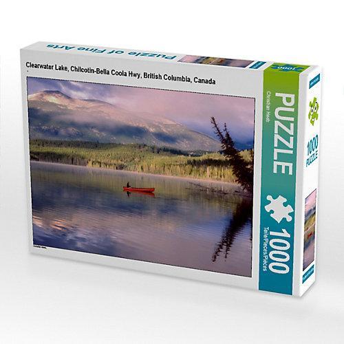 Clearwater Lake, Chilcotin-Bella Coola Hwy, British Columbia, Canada Foto-Puzzle Bild von Christian Heeb Puzzle