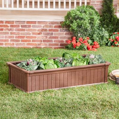 4' x 2' Raised Garden Bed by BrylaneHome in Brown