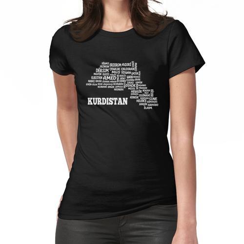 Kurdistan Karte Map Kurdisch Kurdish Geschenk Gift Frauen T-Shirt