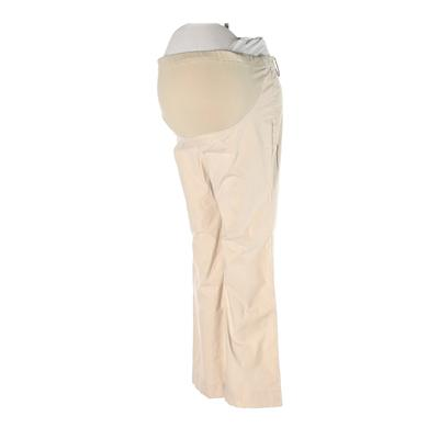 Gap Khaki Pant: Tan Solid Bottoms - Size X-Small Maternity