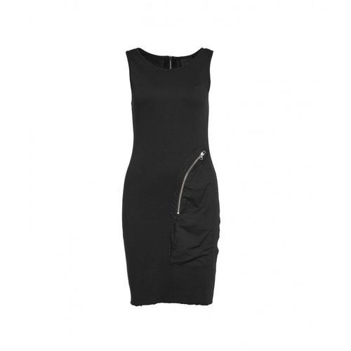 Thom Krom Damen Kleid mit Maxi-Reißverschlusstasche Schwarz