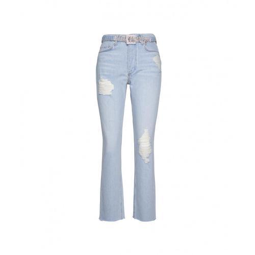 Guess Damen Jeans mit Strassgürtel Blau