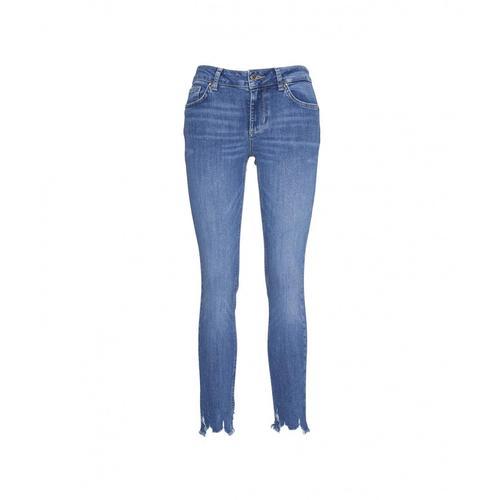 Liu Jo Damen Jeans Up Ideal mit Gürteltasche Blau