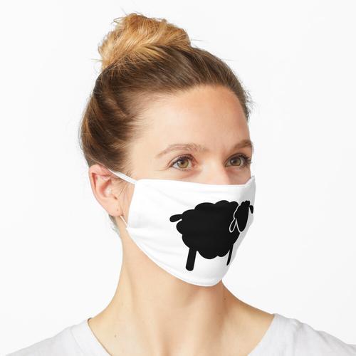 Kleine schwarze Schafe / Schwarz-weiße Schafe Maske