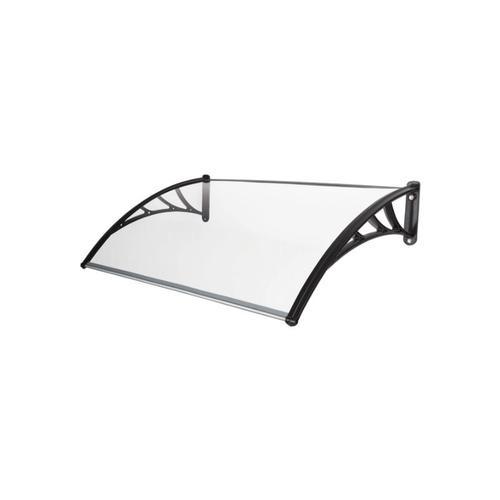 Tür Pult-Vordach 100x120 cm PC transparent Halterung PP Überdachung