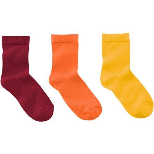 Socken 3er-Pack uni, gelb, Gr. 31/34