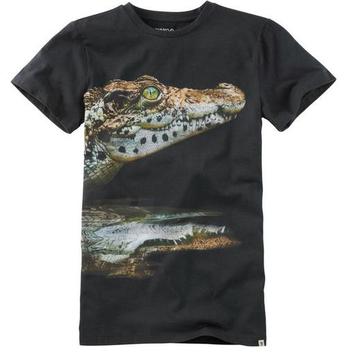 T-Shirt Fotoprint Safari, schwarz, Gr. 140/146