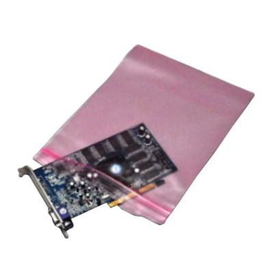 """LK Packaging FASST41215 Resealable Anti Static Bag for Electronic Components - 12"""" x 15"""", LDPE, Pink"""
