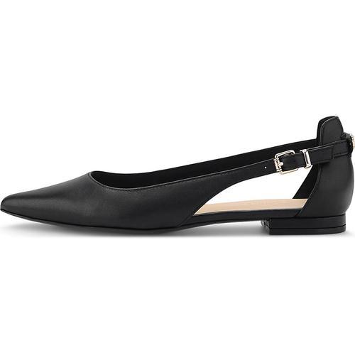 Tommy Hilfiger, Leder-Ballerina in schwarz, Ballerinas für Damen Gr. 36
