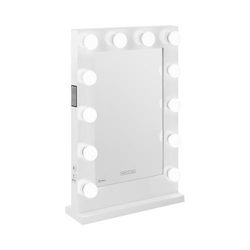physa Hollywood-Spiegel - weiß - 12 LEDs - eckig - Lautsprecher PHY-CMS-11 WHITE