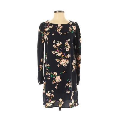 Lulu's Casual Dress - Mini: Black Floral Dresses - Used - Size Small
