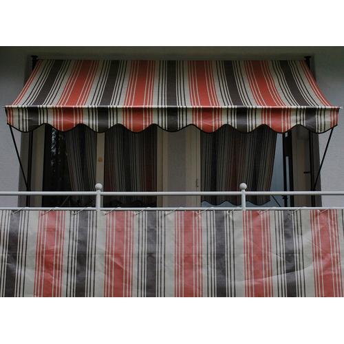 Angerer Freizeitmöbel Balkonsichtschutz Nr. 5100, Meterware, rot/beige/braun, H: 90 cm rot Markisen Garten Balkon