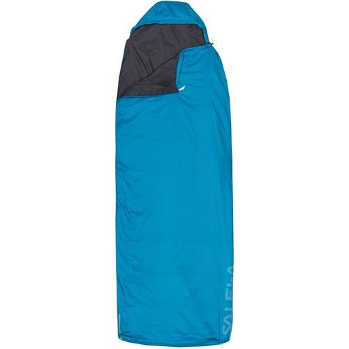 SALEWA MICRO II 650 QUATTRO Kunstfaserschlafsack in blue danube, Größe RV LINKS