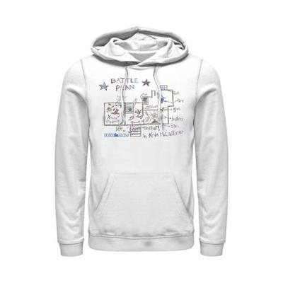 Home Alone White Home Alone Kevin's Plan Graphic Fleece Hoodie