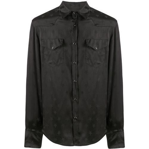 Laneus Jacquard-Hemd mit Sternen