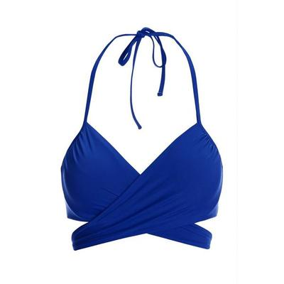 Boston Proper - Swim Sense Underwire Wrap Bikini Top - Deep Ocean - Small