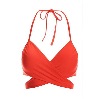 Boston Proper - Swim Sense Underwire Wrap Bikini Top - Scarlet - X Large