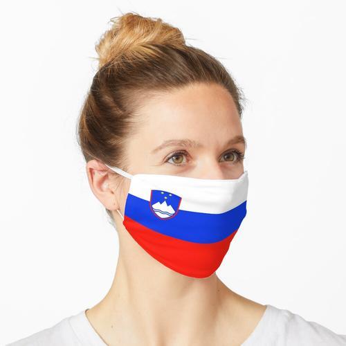 Slowenische Flagge Maske