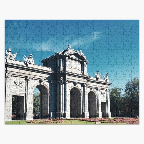 Puerta de Alcala, Madrid, Spanien Puzzle
