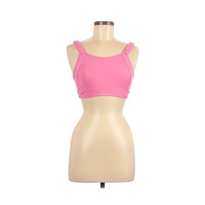 La Isla Sports Bra: Pink Print Activewear - Size Medium