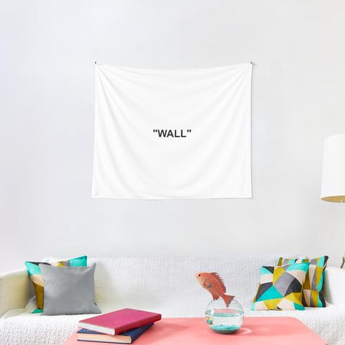 WALL Off White Wall Tapestry