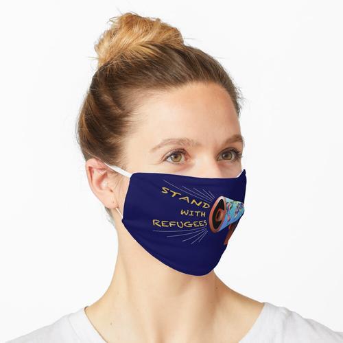 Steh mit Flüchtlingen Maske