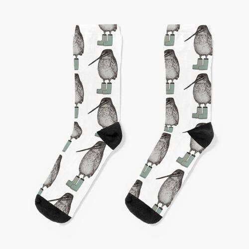 Snipe in silbernen Gummistiefeln Socken