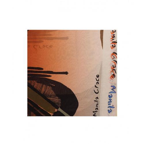 Manila Grace Damen Trapez-Schal Orange