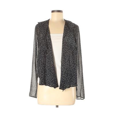 Cotton Candy LA Kimono: Black Polka Dots Tops - Size Medium