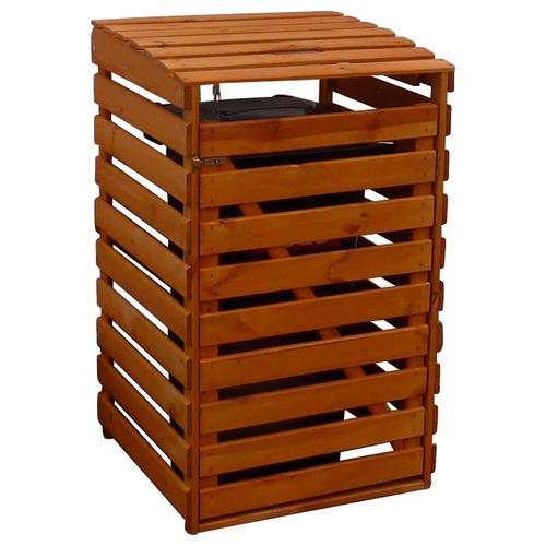 promadino Mülltonnenbox, für 1x240 l aus Holz, BxTxH: 67x90x122 cm braun Mülltonnenbox Mülltonnenboxen Garten Balkon