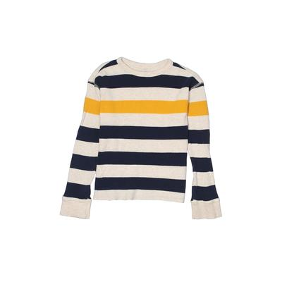 Gap Kids Outlet - Gap Kids Outlet Thermal Top White Print Crew Neck Tops - Used - Size Medium