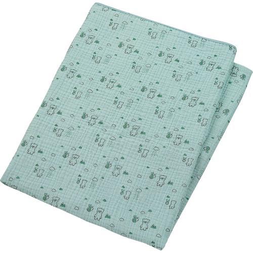 Sterntaler Babydecke Ben, aus Baumwoll-Musselin grün Baumwolldecken Decken