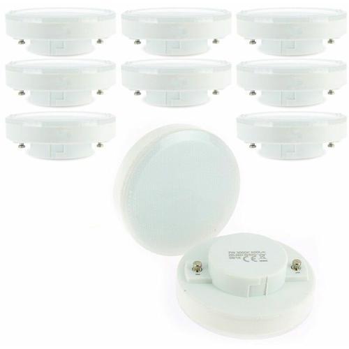 Los mit 10 LED-Lampen GX53 7W Äq. 50W | Farbtemperatur: Kaltes Weiß 6000K