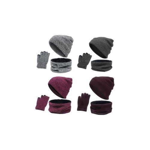 Accessoires-Set für den Winter: Dunkelgrau und Grau / 2