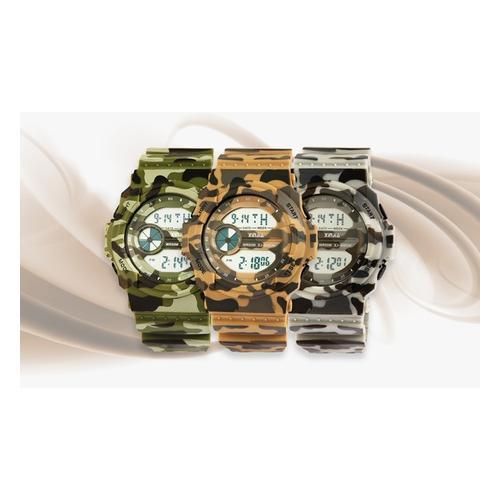 Digitale Armbanduhr: 1x Grün + 1x Braun