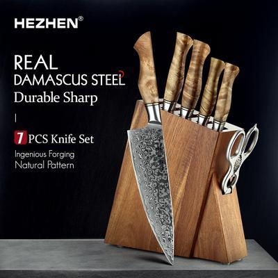 HEZHEN 2-7PC Ensemble de Couteau...