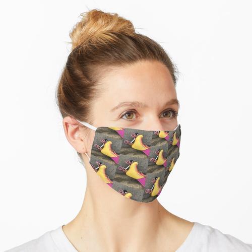Gelber und rosa Rollschuh Maske